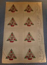 CUT & SEW FABRIC PANEL *COUNTRY CHRISTMAS TREE SKIRT* or APRON,PILLOWS,NAPKINS