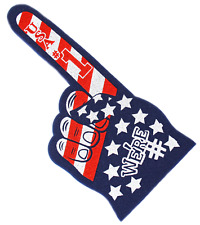 18 Inch We're Number 1 Finger Usa Flag Team Colors Cheerleading Foam Hand Pompom