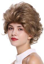 PERRUQUE pour femme court SAUVAGE ondulés style des années 80 Marron Blond