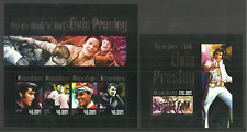MOZAMBIQUE 2014 FILMS CINEMA ELVIS PRESLEY POP ROCK MUSIC SET OF 2 M/SHEETS MNH