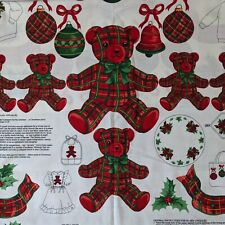 CRANSTON Christmas Plaid Appliques Panel - VIP Screen Print - Uncut Complete
