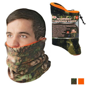 Polar Neck Warmer Gaiter Fleece Ski Face Mask Cover Winter Cold Weather Camo New