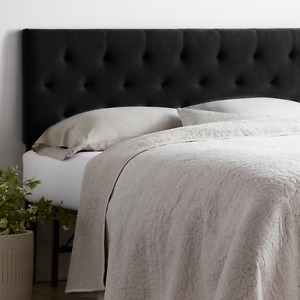 Rest Haven Upholstered Diamond Tufted Mid Rise Headboard, King/California King,