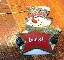 "Mistletoe Mountain Holiday Collection Christmas Tree Ornament Snowman ""DANIEL"""