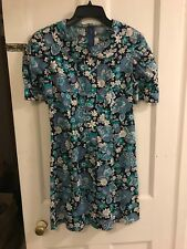 Vintage 1960s Peter Pan Collar Dress Mod Go Go Size 8/10 In Excelent Condition