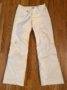 Spyder Women's white  insulated Ski snowboard Pants style # 110066 8  NWOT