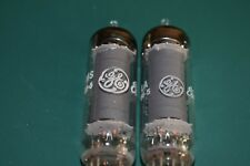 GE 6AQ5A Audio Receiver Guitar Amplifier NOS NIB Vacuum Tubes Tested Pair