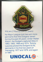 1980's L.A. DODGERS UNOCAL PIN (UNUSED) - 7 PENNANTS IN 25 YEARS