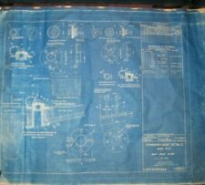 Vintage Blueprint US Navy Dept Washington DC Jan 25, 1939