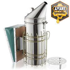 12 12 Stainless Steel Bee Hive Smoker With Heat Shield Beekeeping Equipment