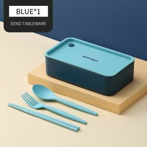 Portable Lunch Box Kids School Bento Box Microwave With Movable Compartments