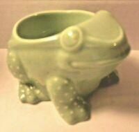 Bath & Body Works mini 1.3 oz Candle Holder Green Ceramic Frog