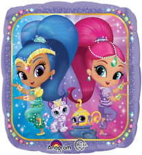 SHIMMER AND SHINE SQUARE FOIL BALLOON PARTY DECORATION GENIE'S &