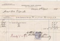 Trustees of late Walter Meiklem Glasgow 1881 Settled Stamp Invoice Ref 40791