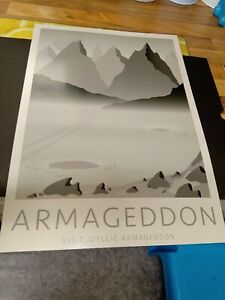 Warhammer Limited Edition Black Library A3 Art Print Armageddon Tourist Art