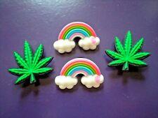 Clog Jibbitz Charm Shoe Plug WristBand Reefer Cannabis Marijuana Weed Leaf Pot