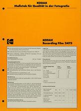 Kodak Recording Film 2475 - Kodak Datenblatt P-A3
