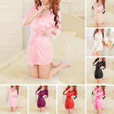 Lencería Pijama encaje mujer vestido ropa interior Babydoll de noche Batas Satén