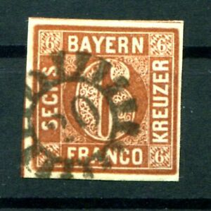 Bavaria Number Stamp Gmr 20 4 Impeccable Postmarked (F0019