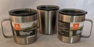 Set 3 Ozark Trail 12-oz Double Wall BPA Free Stainless Steel Coffee Mug Camping