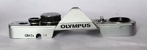 Olympus OM-2N top plate in silver.