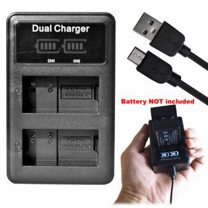 Slim battery Charger for Panasonic DMW-BLC12 BLC12PP Lumix DC-G90 DC-G91 DC-G95
