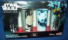 STAR WARS MINI (Shot) GLASS Set 2oz NIB Disney ZAK ROGUE ONE Jyn