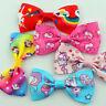 5/10Pc Girls Unicorn Bow Ribbon Alligator Hair Clips Hairpins Barrette Headwear
