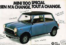 Publicité advertising 1979 (2 pages) La Mini 1100 Special Leyland