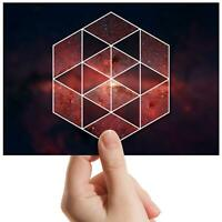 "Geometric Red Space Nebula - Small Photograph 6"" x 4"" Art Print Photo Gift #8835"