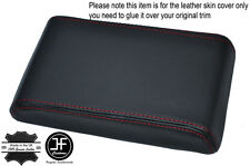 RED STITCHING ARMREST LID LEATHER COVER FITS HOLDEN COMMODORE VL