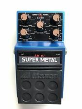 Maxon SM-01, Super Metal, Distortion, Made In Japan, 1980's, Guitar Effect Pedal