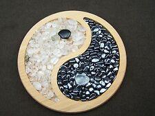Yin Yang Teller Bergkristall Hämatit Kristalle aufladen entladen Feng Shui Ying