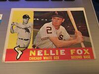 1960 TOPPS Nellie Fox Chicago White Sox 1960 Topps Vintage Trading Card #100