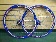 Fixed Gear Track Road Bike 700c 40mm Wheels Blue Rim Blue spokes Sealed Bearing