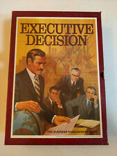 Executive Decision Business Management Board Game 3M 1971