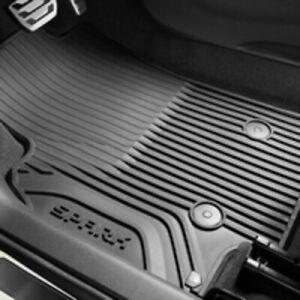 Genuine GM OEM Frt & Rr All Weather Floor Mats Black 2016-19 Spark 42473310