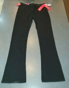 Spanx FD2214 The Slim-X Slim Bootcut Jeans - Black UK Size W28 L32 - BNWT FD2214