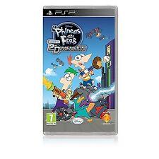 PSP gioco Disneys Fineo & E FERB 3 trasversale attraverso la dimensione 2. NUOVO