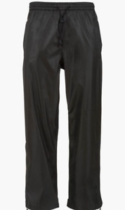 Highlander Tempest Mens Waterproof Rain Over Trousers in black various sizes