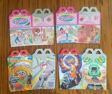 Vintage 1995 McDonald's Barbie Dolls of the World and Hot Wheel Happy Meal Boxes