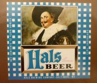 OLD USA BEER LABEL, HALS BREWING Co BALTIMORE MARYLAND, HAL BEER