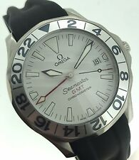 Omega Seamaster GMT White Dial Automatic Steel Rubber Strap GREAT WHITE 2538.20