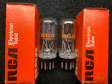 2 NOS NIB Matched RCA 6SL7GT Coin Base Audio Tubes USA 1974
