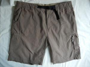 COLUMBIA mens XL brown NYLON COTTON blend CARGO Shorts PFG Hiking Fishing