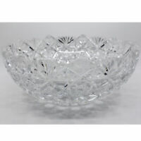 ABP American Brilliant Period Cut Glass Bowl Hobstars and Diamond Fans