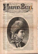 1882 Harper's Bazar November 25 - Ribbon caps and collars; Child's walking suit;