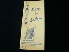 Vintage 1940s Owen Sound Dominion Transportation Songs For Sailors Brochure R602