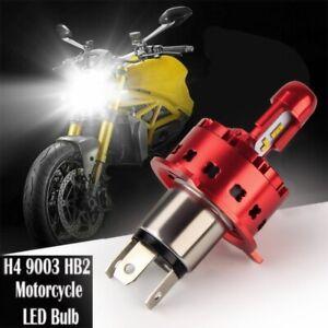 H4 9003 HB2 LED Bulb HID White 360° Hi/Lo Beam Motorcycle Headlight Super Bright