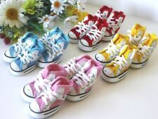 USA SELLER Dog Puppy Boots Sneakers SETof 4 Shoes Pink Blue Red Yellow sz #1 -#5